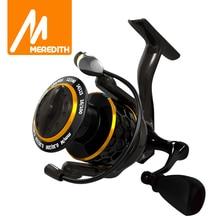 MEREDITH DAFNE KEEN Spinning Reel 5.2:1 2000 3000 4000 Triple Disc Carbon Drag 12KG Max Drag Power Bass Pike Karpfen Angeln Rollen