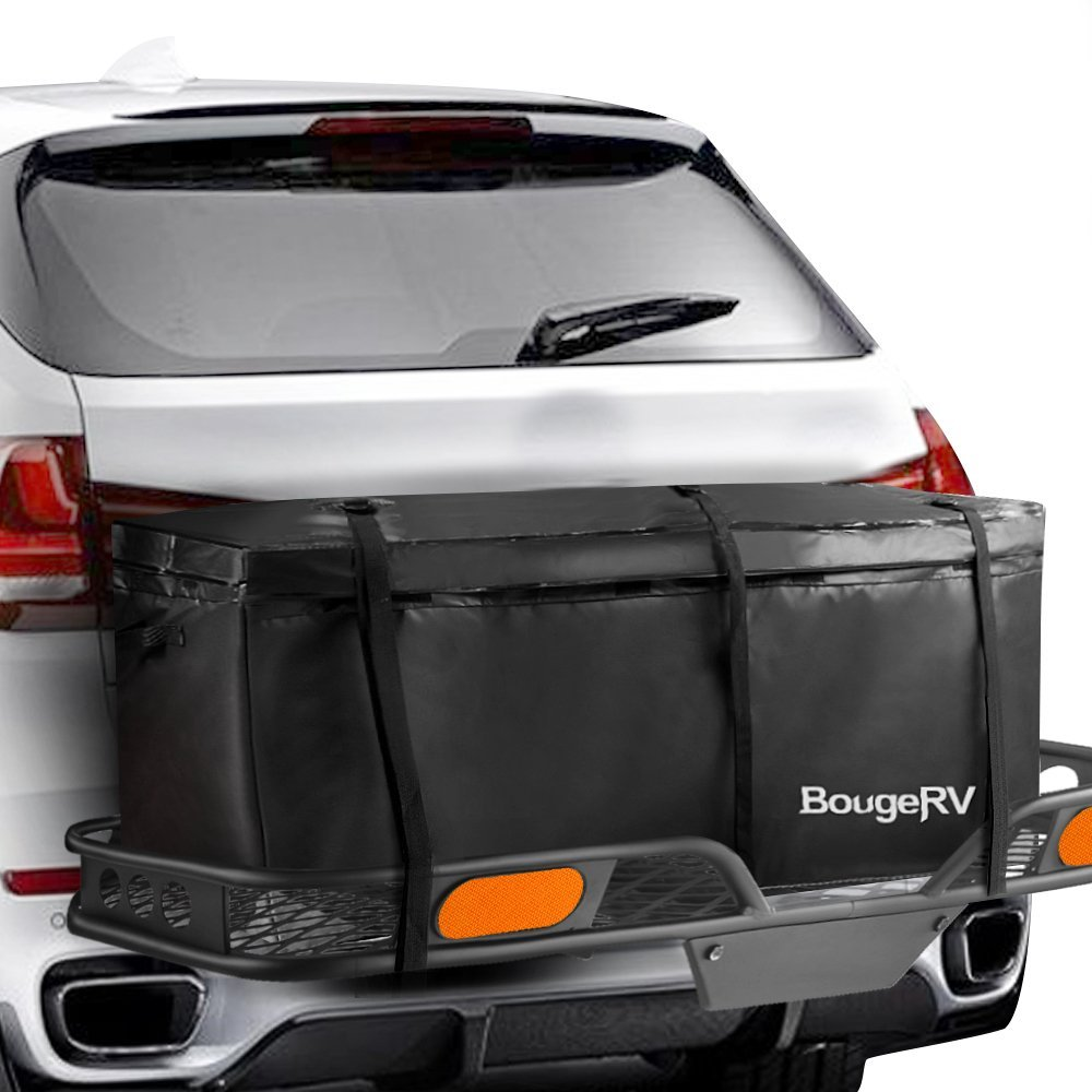 RV Water-repellent Cargo Bag Trailer Hitch Cargo Bag Cargo Carrier Cargo Box For Vehicle Car Truck SUV Vans Roof Top Rear