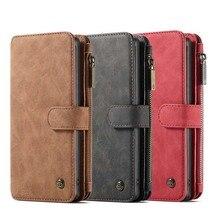 Original CaseMe  2 in 1 Zipper Wallet Leather Phone Case For Samsung Galaxy Note10 Note10Plus Vintage Mobile Bag KS0296