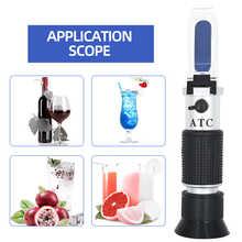 Handheld alcohol refractometer sugar Brix 0-40% alcohol 0-25% alcoholometer sugar meter refratometro   46%OFF
