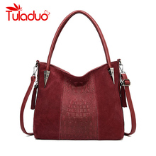 Women Handbags PU Scrub Leather Female Crossbody Shoulder Bags High Quality Messenger Bags for Ladies Big Totes Large Capacity