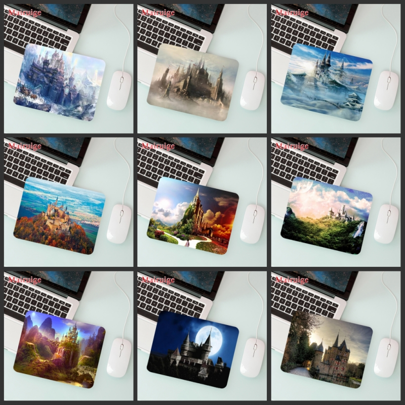 Mairuige Big Promotion Laptop Mouse Pad Magic Castle   Player Play  Small Size 180 * 220  2mm