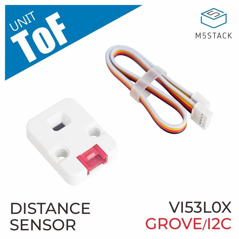 M5Stack Official ToF Unit VL53L0X Time-of-Flight (ToF) Laser Ranging Sensor Breakout Laser Distance Sensor Module GROVE I2C
