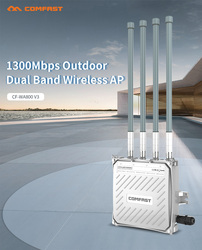 Comfast CF-WA800-V3 1300Mbps Dual band 2.4&5.8G Outdoor Wireless AP Gigabit WIFI Router 4 External Antenna Base Station