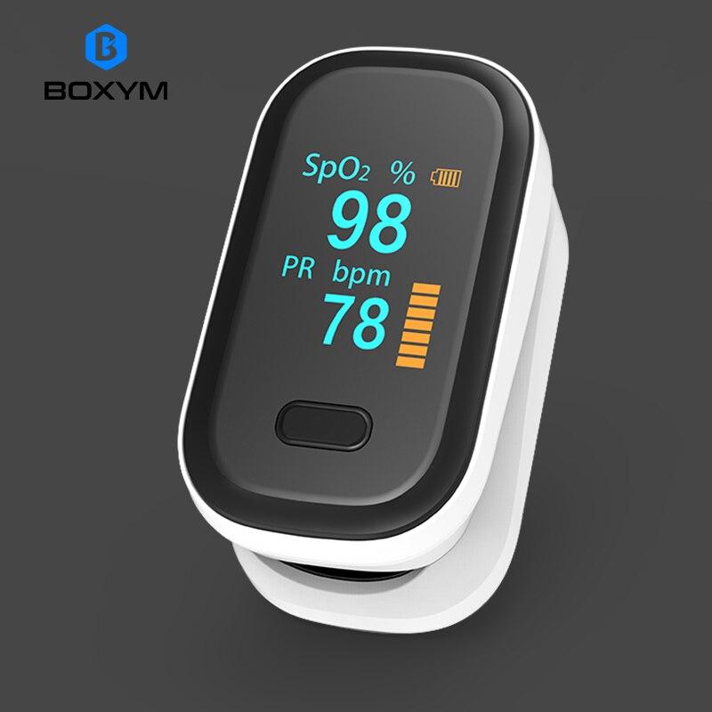 BOXYM médical Portable doigt oxymètre de pouls oxygène du sang fréquence cardiaque Saturation mètre OLED Oximetro de dedo Saturometro moniteur