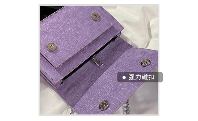 sac Mini Small Square bag 2020 Fashion New super PU Leather Women's Handbag Crocodile pattern Chain Shoulder Messenger Bags