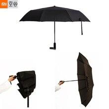 Xiaomi WD1 автоматический зонтик для защиты от ветра водостойкая Защита от Солнца Сверхлегкий трехскладной зонтик для мужчин/женщин портативный мини-зонтик