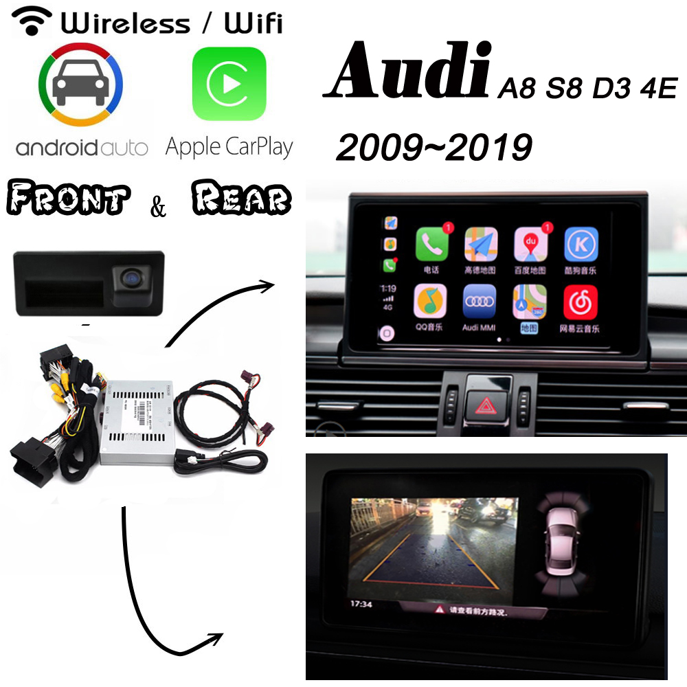 Для Audi A8 S8 D3 4E 2009 ~ 2019 Беспроводная Carplay box задняя камера Carplay интерфейс оригинальный sgree Android carlife улучшение image