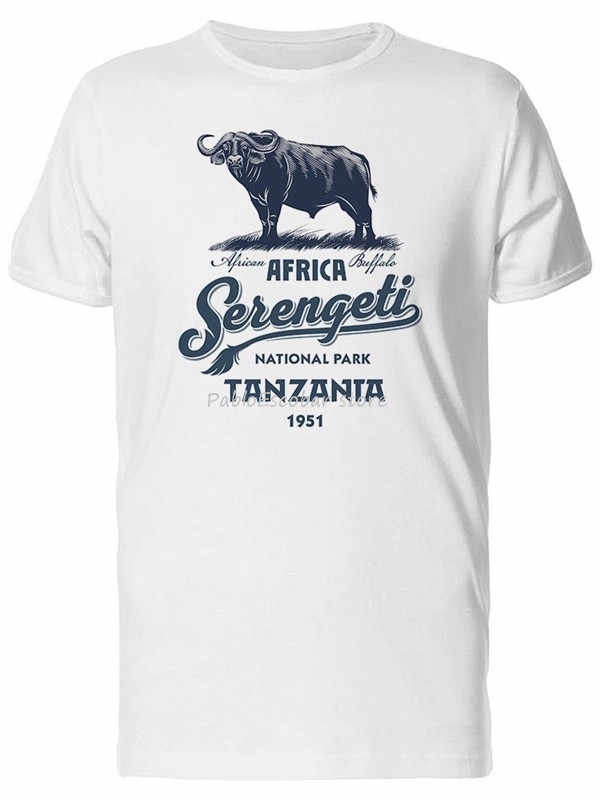 Afrikanische Buffalo Tansania Männer T-Bild Durch Neue Lustige T Shirt männer baumwolle t-shirt neue mann größere größe teeshirt