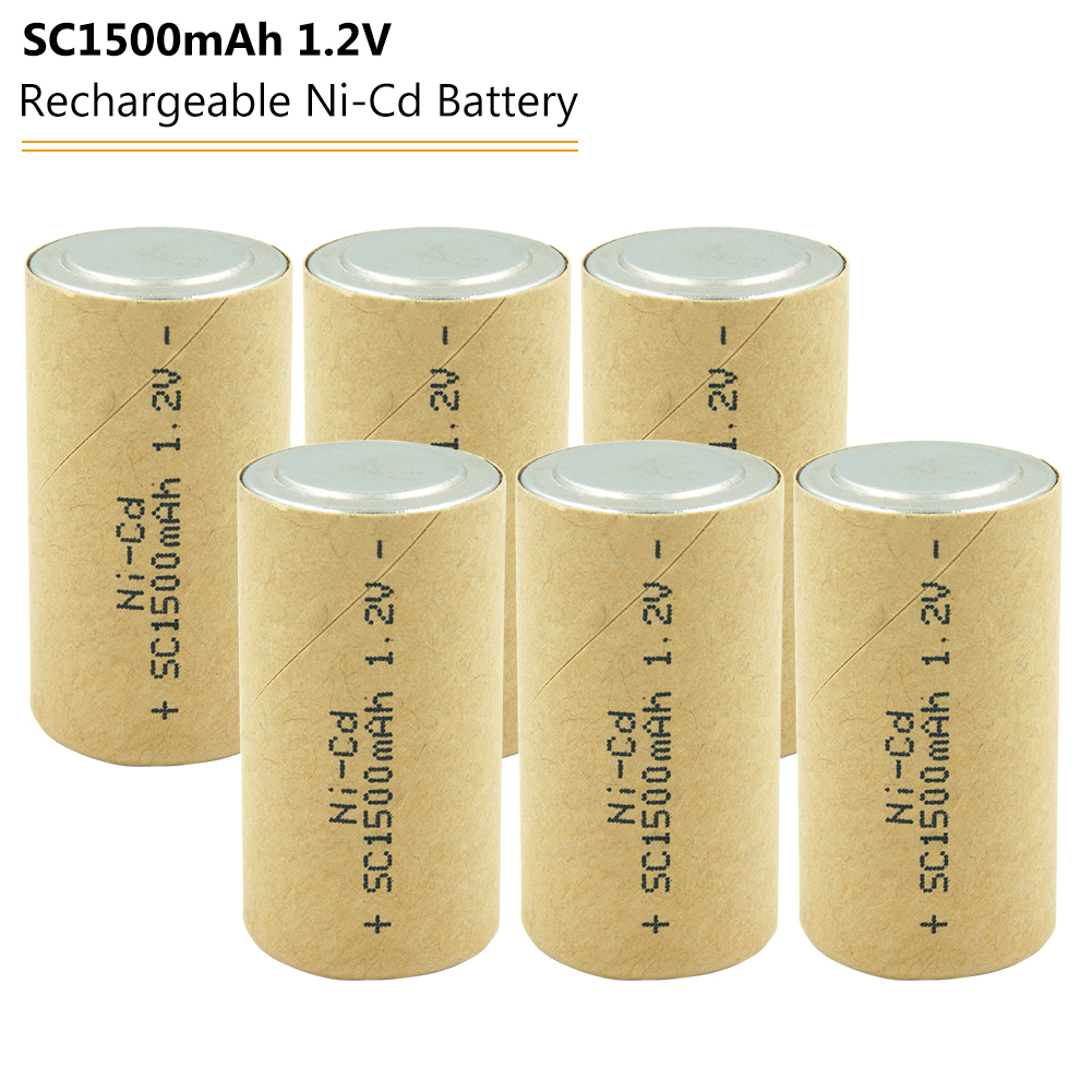 SC <font><b>1500mah</b></font> <font><b>1.2v</b></font> <font><b>Battery</b></font> <font><b>NICD</b></font> Rechargeable <font><b>Batteries</b></font> Power Cell for Makita Bosch Hitachi Electric Screwdriver <font><b>Battery</b></font> image