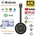 Mirasreen tv vara 4 k tela sem fio projetor 5g wifi display dongle airplay hdmi para google chromecast para youtube netflix