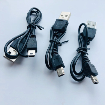 1pcs 80cm USB 2.0 Male A To Mini B 5-pin Charging Cable for Digital Cameras for MP3 / MP4 Player USB Data Charger Cable image