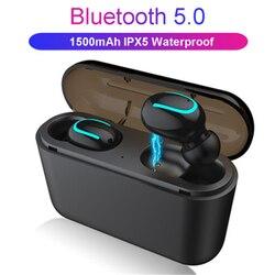 TWS Bluetooth-наушники с сенсорным управлением; Беспроводные наушники с микрофоном; Спортивные водонепроницаемые беспроводные наушники; 9D стере...