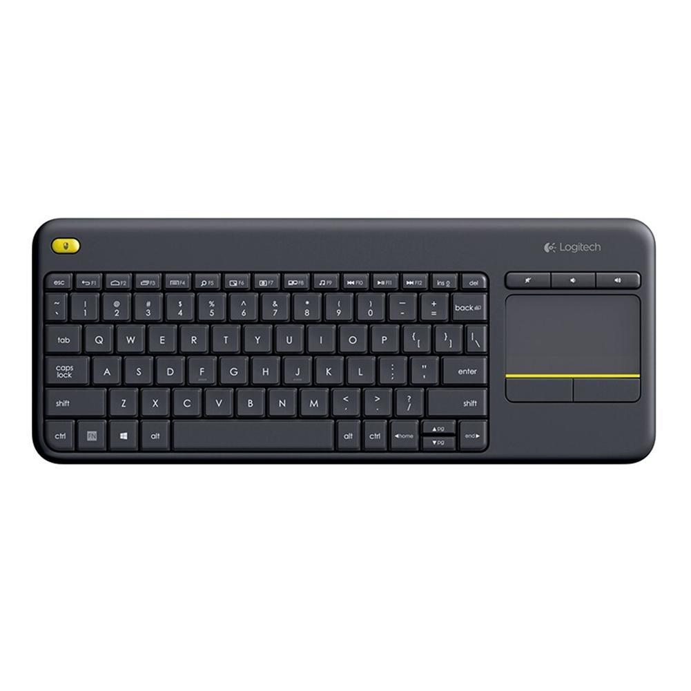 Logitech K400 artı kablosuz dokunmatik klavye w/Android akıllı TV için Touchpad