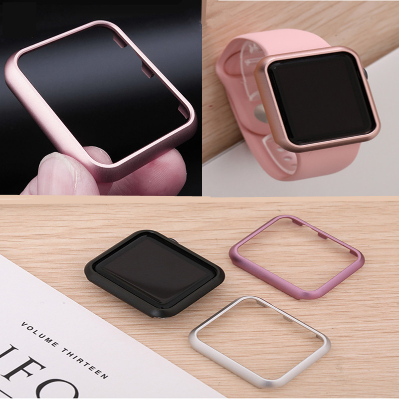 Aluminum Metal Alloy Case For Apple Watch band 4 (iwatch 5) 44mm 40mm applewatch strap 3 2 1 42mm 38mm Protector Cover Frame image