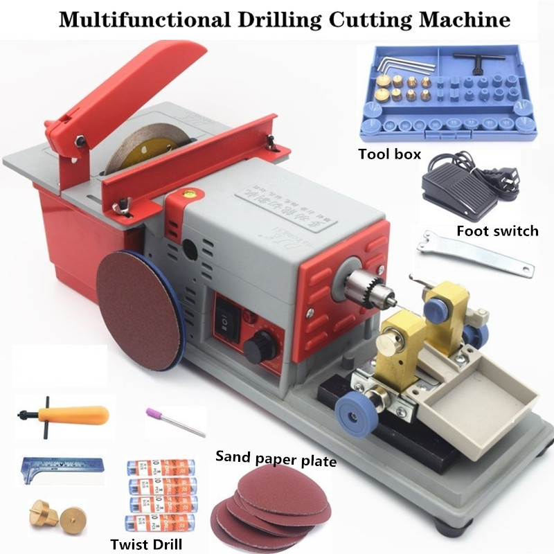 220V Stone/Pearl/Amber/Wood Beades Engraving, Polishing, Cutting , Holing,Multifunctional Drilling Cutting Polishing Machine