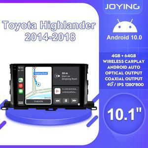 "Image 1 - 10.1""Android 10 Car Radio Stereo Head Unit 1280*800 GPS Navigation Carplay 4G For Toyota Highlander 2014 2018 Multimedia Player"
