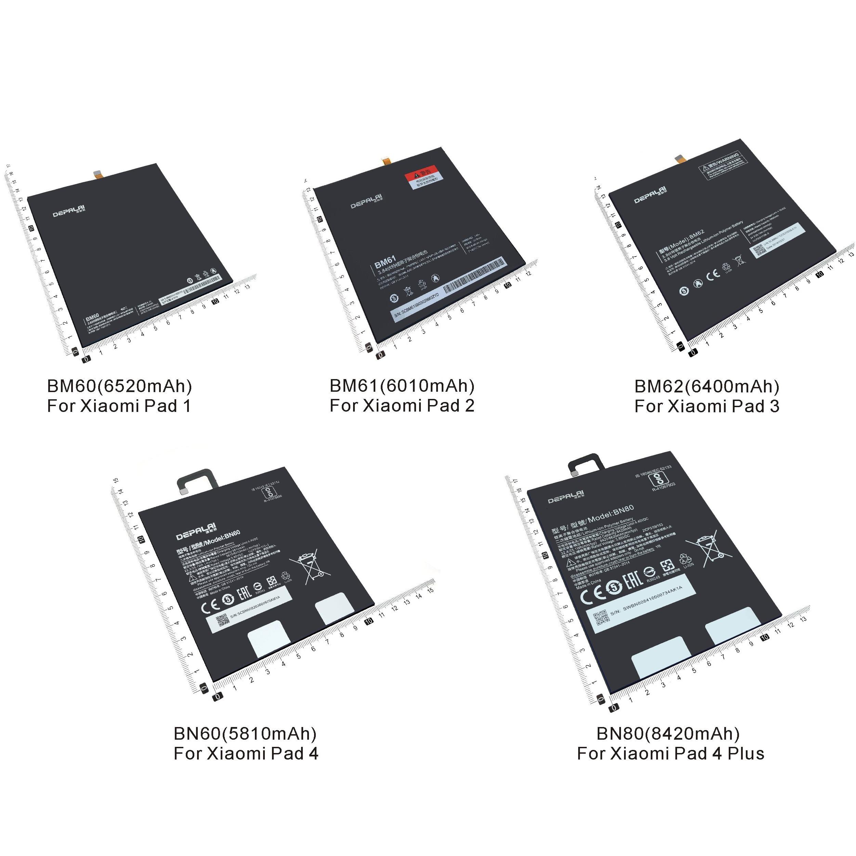 Аккумулятор BM60 BM61 BM62 BN60 BN80 для планшета, сменная батарея для Xiaomi pad 1 2 3 4 4Plus