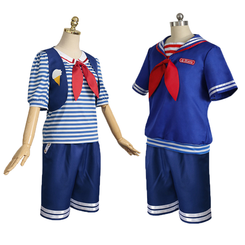 Stranger Things Marine Icecream Man Halloween Cosplay Costumes For Adults Drama Perfomance Carnival Game Wear Free Shipping