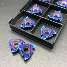 MMT22ER 22IR AG60 Nano filetage métallique bleu, outil de tournage CNC, lame de tour en carbure cmenté