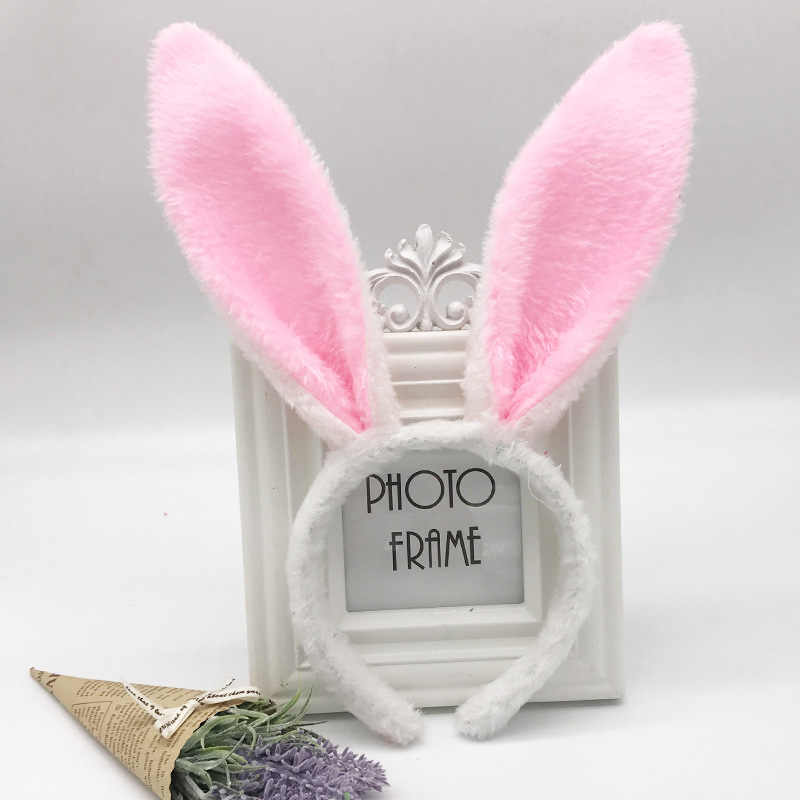 1 قطعة الوردي أرنب الأذن أغطية الرأس لطيف القطن النساء جميل الأرنب عقال الفتيات عطلة الكبار الاطفال Hairband الشعر الملابس اكسسوارات