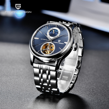PAGANI DESIGN Luxury Men Mechanical Wristwatch Stainless Steel Watch Top Brand Sapphire Glass Automatic Men Watches reloj hombre top luxury men automatic mechanical watch brand original binger watches self wind sapphire ceramic wristwatch 24 hours display