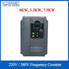 220 кВт 380 В в VFD преобразователь частоты переменного тока однофазный вход 3 фазы выход приводы преобразователь частоты