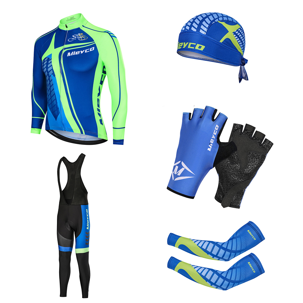 Mieyco Bike Clothing Long Sleeve Men Cycling Jersey Sets Compressed Fall Suite Anti Pilling Bikes Clothes Mountain Racing Suit
