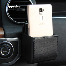 Phone Holder Bag For Xiaomi Pocophone F1 Huawei Car GPS Air Vent Mount Cell Phone Stand Holder For iPhone 7 Samsung Storage Bag цены