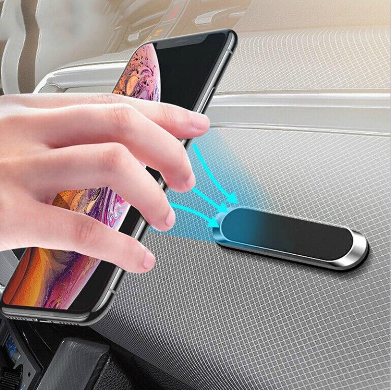 Магнитный автомобильный держатель для телефона на магните приборной панели мини полоса Форма подставка для Audi A1 A2 A3 A4 A5 A6 A7 A8 C5 C6 Q2 Q3 Q5 Q7 R8