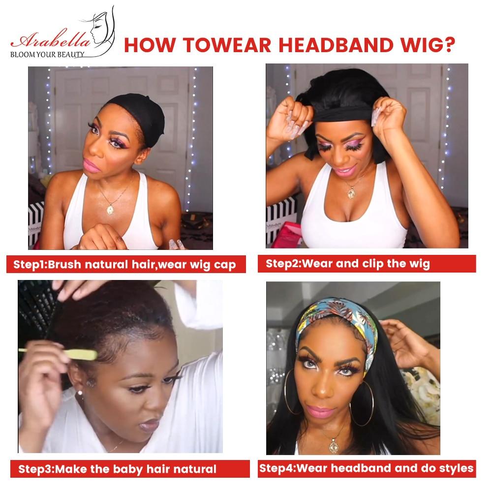 Deep Wave  Wigs With Headband  Hair Full Machine Made Wig  Arabella Hair Glueless Wig 3