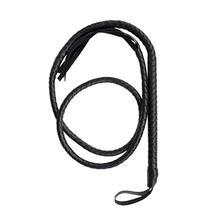 Artesanías Black Bull Whip 6,5 pies vaca Hide Leather Custom BULLWHIP vientre y refuerzo construcción