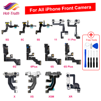 1pcs Front Camera For iPhone 5S SE 5C 5 6 6s 7 8 Plus X XR XS Max Proximity Sensor Face Front Camera Flex Cable Parts
