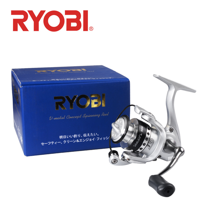 100% Original <font><b>Ryobi</b></font> Japan Tiny Pro Spinning Reel 3+1BB Fishing Tackle 500 800 <font><b>1000</b></font> Boat Raft Fishing Gear Wheel image