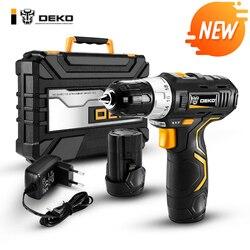 DEKO GCD12DU3 12 V Max destornillador eléctrico Taladro Inalámbrico Mini Wireless Power Driver DC Litio-Ion 3/8- pulgadas 2 velocidad