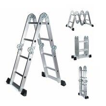 3,7 м многофункциональная Выдвижная складная стремянка телескопическая складная лестница стремянка для дома алюминиевая стремянка телескопическая лестница