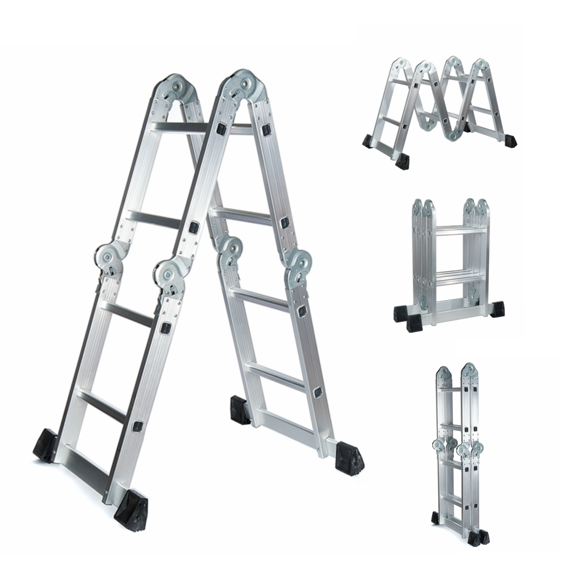 3.7m Multi-Purpose Extension Folding Step Ladder Telescopic Folding Ladder Step-Stand House Aluminium Ladders Telescoping