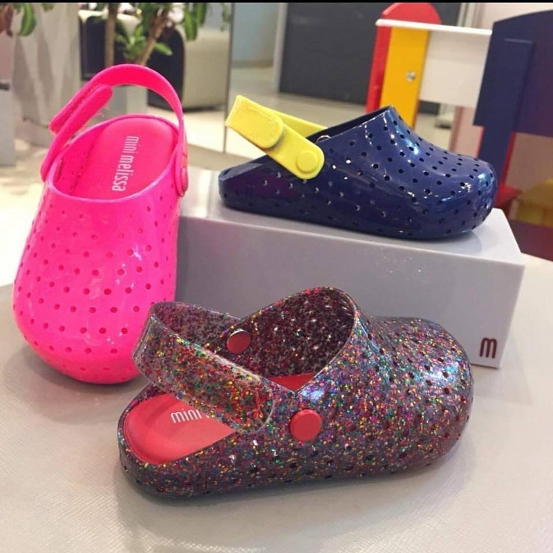 2020 Mini Melissa Girls Hole Sandals Fashion Slippers Children Beach Breathable Non-Slippery High Quality Summer Sandal MN018