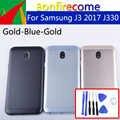 Original para Samsung Galaxy J3 2017 J330 J330F SM-J330F cubierta de la batería cubierta trasera de la cubierta del chasis de la puerta trasera