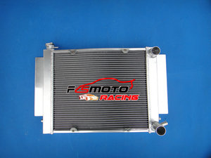 High quality For Fit Mazda RX2 RX3 RX4 RX5 RX7 Aluminum Alloy Radiator With Heater PiPe(China)