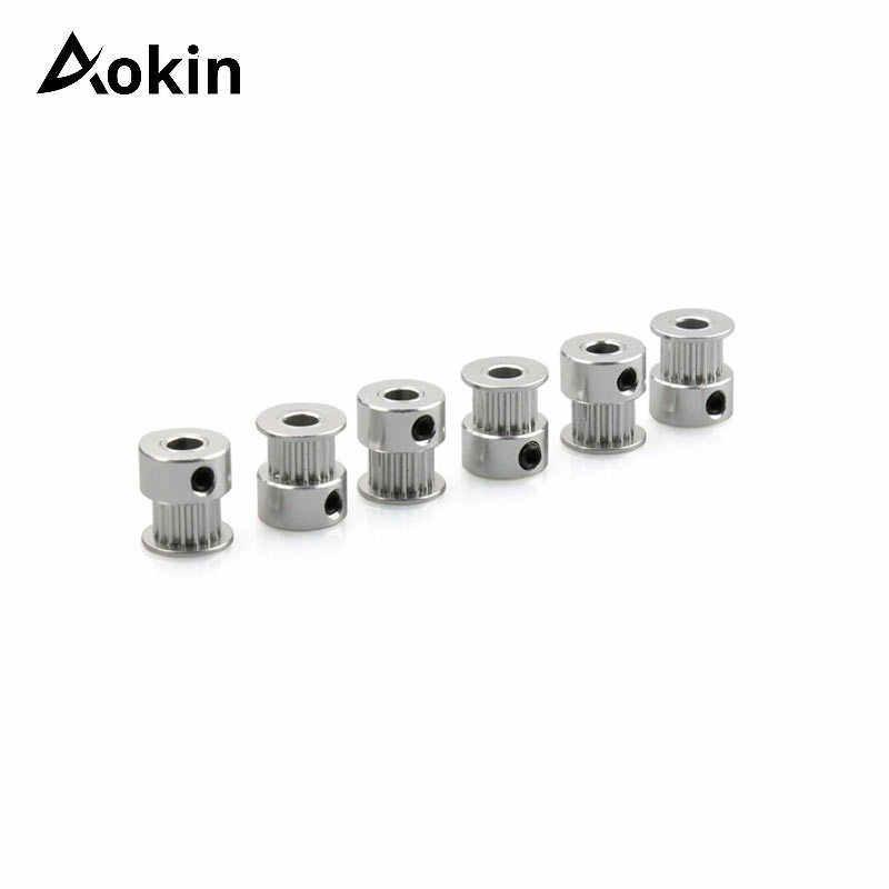 A impressora 3d parte a peça síncrona da engrenagem das rodas de alumínio do furo 5mm 8mm para a largura 6mm 10mm a polia cronometrando 16 dentes 2gt 20