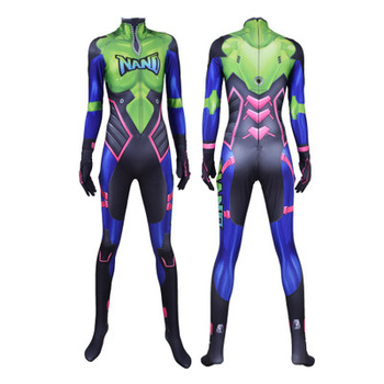 Hot Sale Nano Cola D.Va Skin Cosplay Costume 3D Print Game New DVA Nano Zentai Suit Adults Kids 1