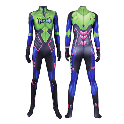 Hot Sale Nano Cola D.Va Skin Cosplay Costume 3D Print Game New DVA Nano Zentai Suit Adults Kids 1