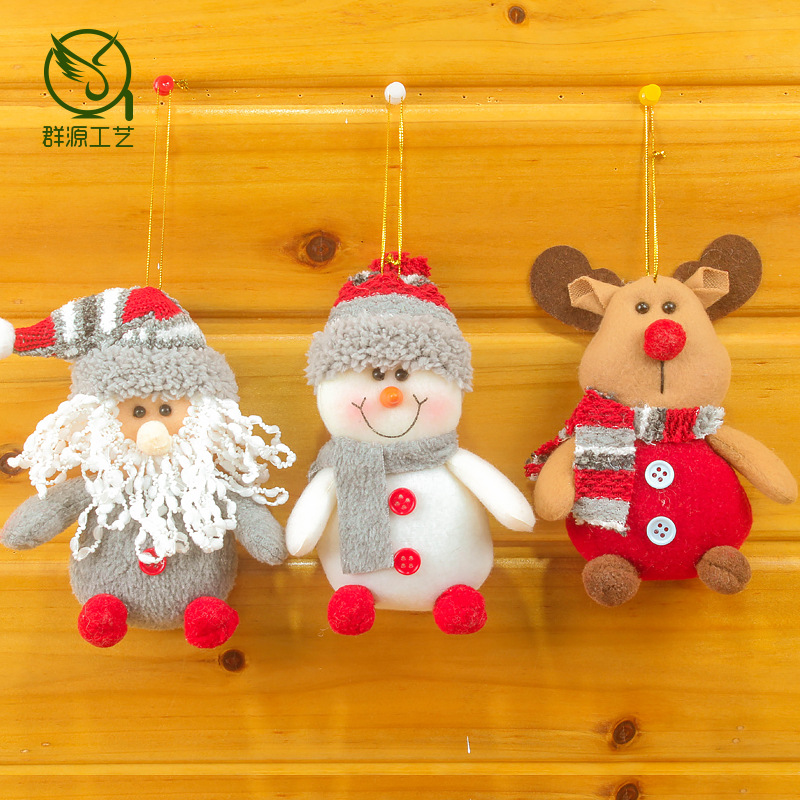 Hot selling flannel Christmas decorations pendants Doll scene layout gift supplies ornaments home decor
