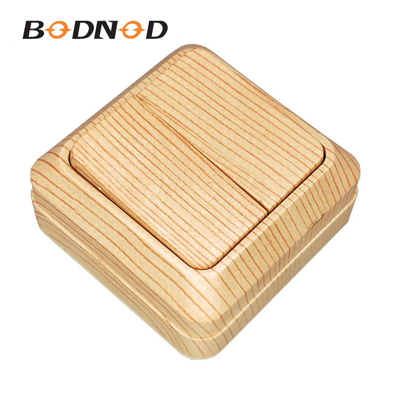 Light Switch Two Gang Switch Wood grain European Light Beech Color Inset Wall Switch DIY 10A 250V Legrand Schneider Livolo(China)
