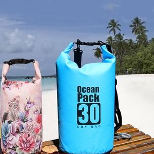 Image 1 - PVC 5L 10L 20L Outdoor Diving Compression Storage Waterproof Bag Dry Bag For Man Women Swimming Rafting Kayak