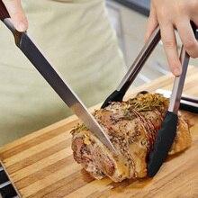 12 дюймов барбекю салат зажим силиконовый чехол ручка барбекю щипцы из нержавеющей стали кухонные многофункциональные инструменты для гриля