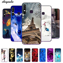 "Soft tpu Silicone Printed Cell Phone Case Cover For Tecno Camon 12 6.52"" Colorful Back Covers cute Cartoon Flower pattened Case(China)"