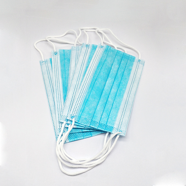 100Pcs 3 layer Disposable Elastic Mouth Soft Breathable Blue Soft Breathable Flu Hygiene Child Kids Face Mask Dropshipping 5