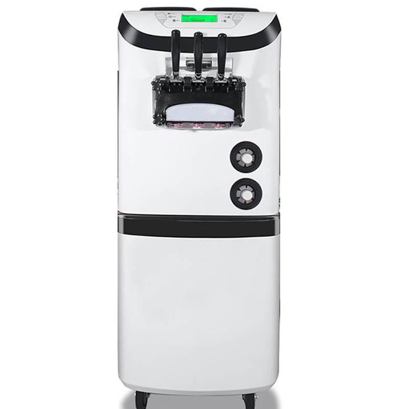 28-36L/H Commercial Soft Ice Cream Machine 220V Three Colors Vertical Make Ice Cream Intelligent Sweetener Ice Cream Maker